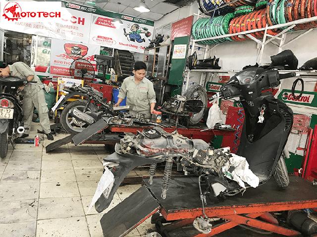 Mototech làm lại xe máy hơi uy tín